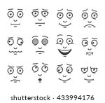 set cartoon faces.facials... | Shutterstock .eps vector #433994176