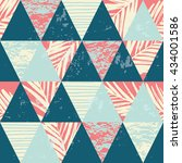 seamless exotic pattern with... | Shutterstock .eps vector #434001586