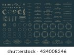 wicker lines and old decor... | Shutterstock .eps vector #434008246