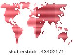 map of the world illustration ... | Shutterstock . vector #43402171