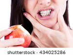 woman with a toothpain | Shutterstock . vector #434025286