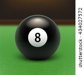 vector illustration billiards.... | Shutterstock .eps vector #434027572