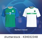 color soccer t shirts of... | Shutterstock .eps vector #434032348