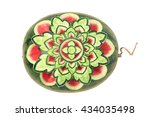 Watermelon Carving Isolated On...