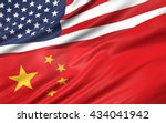 3d illustration of usa and... | Shutterstock . vector #434041942