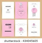 simple flat kid logo. baby ... | Shutterstock . vector #434045605