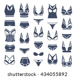bra design and panties styles... | Shutterstock .eps vector #434055892