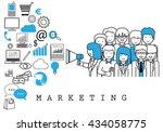 marketing team on white...   Shutterstock .eps vector #434058775