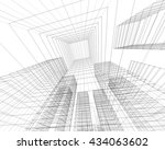 architecture abstract  3d... | Shutterstock . vector #434063602