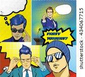 people characters stock vector... | Shutterstock .eps vector #434067715