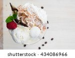 cold summer icecream cup with...   Shutterstock . vector #434086966