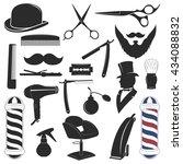 barbershop tool collection  set ... | Shutterstock . vector #434088832