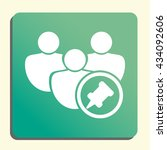 vector illustration of user pin ... | Shutterstock .eps vector #434092606