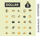 dollar icons  | Shutterstock .eps vector #434095882