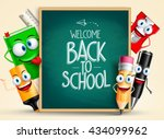 school vector characters of... | Shutterstock .eps vector #434099962