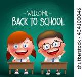 students vector characters... | Shutterstock .eps vector #434100046