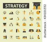 strategy icons  | Shutterstock .eps vector #434101552