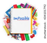word impossible transformed... | Shutterstock . vector #434101792