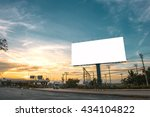 billboard blank for outdoor... | Shutterstock . vector #434104822