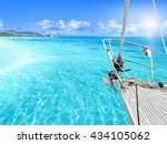 view of tropical beach from... | Shutterstock . vector #434105062