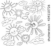 coloring  book.  hand drawn.... | Shutterstock .eps vector #434110726