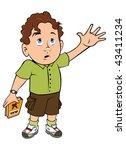 cartoon outline vector... | Shutterstock . vector #43411234