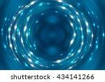 abstract fractal blue... | Shutterstock . vector #434141266