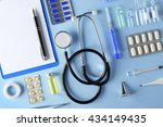 Doctor Table With Medical Item...