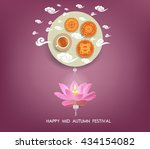 chinese mid autumn festival... | Shutterstock .eps vector #434154082