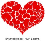 Big Heart Shape Comprised By...