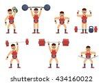 set of circus strongman... | Shutterstock .eps vector #434160022