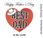 fathers day  postcard in retro... | Shutterstock .eps vector #434167222