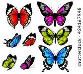 butterflies design | Shutterstock .eps vector #434167948