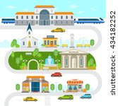 city infographic elements  town ... | Shutterstock .eps vector #434182252