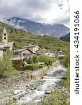 Small photo of Scenic view of a typical town in Valtellina, a valley in the Lombardy region of northern Italy, bordering Switzerland along the Adda river