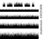 seamless grass silhouettes | Shutterstock . vector #434191858