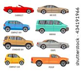 car types flat icons | Shutterstock . vector #434191966