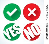 yes or no icons | Shutterstock .eps vector #434194222