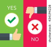 yes or no icons | Shutterstock .eps vector #434194228