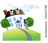 view of the living house vector | Shutterstock .eps vector #43419748