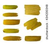 gold texture paint stain... | Shutterstock . vector #434200348