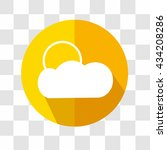 cloud and sun icon. weather...