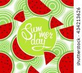 lettering summer day on... | Shutterstock .eps vector #434213626