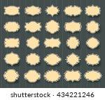 set of vintage frames with... | Shutterstock .eps vector #434221246
