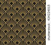 art deco seamless vintage... | Shutterstock .eps vector #434224015