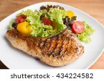 grilled pork chop prepare for... | Shutterstock . vector #434224582