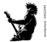 punk guitar player in grunge... | Shutterstock .eps vector #43422595