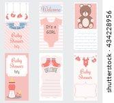 baby shower invitation card.it... | Shutterstock .eps vector #434228956