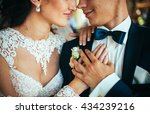 close up portrait of a bride... | Shutterstock . vector #434239216