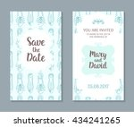wedding cards set. romantic...   Shutterstock .eps vector #434241265
